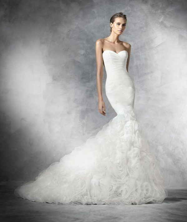Vestidos de novia usados corte sirena